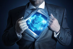 Uomo d'affari globale immagini stock