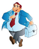 Uomo d'affari grasso, illustrazione Fotografie Stock