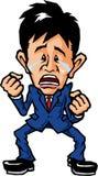 Uomo d'affari gridante Fotografie Stock Libere da Diritti