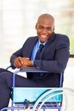 Uomo d'affari handicappato ottimista Fotografia Stock Libera da Diritti