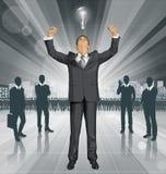 Uomo d'affari With Hands Up di vettore illustrazione di stock
