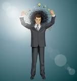 Uomo d'affari With Hands Up di vettore Fotografie Stock Libere da Diritti
