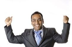 Uomo d'affari Happy dopo avere wining un affare Immagine Stock