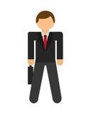 Uomo d'affari Icon illustrazione di stock
