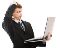 Uomo d'affari imbarazzato Fotografia Stock Libera da Diritti