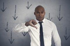 Uomo d'affari infelice Fotografia Stock Libera da Diritti