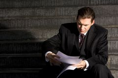 uomo d'affari infelice fotografie stock libere da diritti