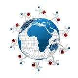 Uomo d'affari intorno al mondo Fotografie Stock