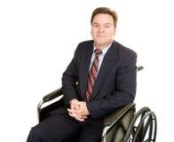 Uomo d'affari invalido - dignità Fotografia Stock Libera da Diritti