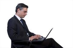 Uomo d'affari isolato Fotografia Stock