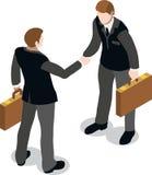 Uomo d'affari isometrico Sale Lead Bank Immagine Stock