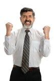 Uomo d'affari ispanico che celebra Immagini Stock