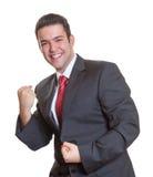 Uomo d'affari ispanico giovane di conquista Fotografie Stock Libere da Diritti