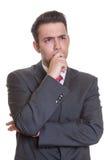 Uomo d'affari ispanico insoddisfatto Fotografie Stock
