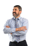 Uomo d'affari ispano With Arms Crossed Fotografia Stock Libera da Diritti