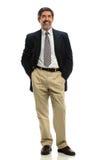 Uomo d'affari ispano Standing Fotografia Stock