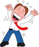 Uomo d'affari Laughing del fumetto. Fotografia Stock
