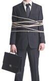 Uomo d'affari legato immagini stock libere da diritti