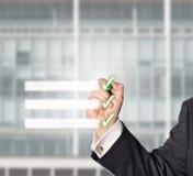 Uomo d'affari, lista di controllo, spazio della copia Fotografie Stock Libere da Diritti