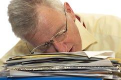 Uomo d'affari maggiore esaurito Immagini Stock