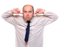 Uomo d'affari maggiore frustrato Fotografie Stock Libere da Diritti