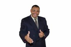 Uomo d'affari maggiore sorridente del African-American Fotografia Stock Libera da Diritti