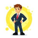 Uomo d'affari Mascot Character Fotografia Stock Libera da Diritti