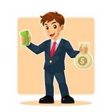 Uomo d'affari Mascot Character Immagine Stock