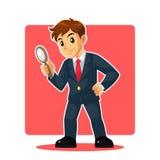 Uomo d'affari Mascot Character Fotografia Stock