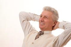 Uomo d'affari maturo sorridente Fotografie Stock Libere da Diritti