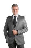 Uomo d'affari maturo sorridente Immagine Stock