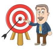 Uomo d'affari - mostrare i suoi succes Immagini Stock