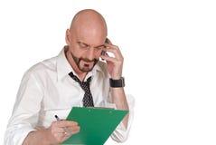 Uomo d'affari, multi incarico fotografie stock libere da diritti