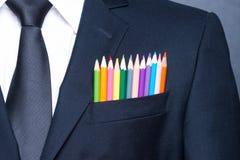 Uomo d'affari multicolore immagine stock