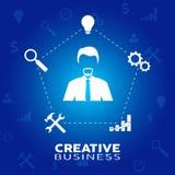 Uomo d'affari nel momento di creatività Fotografia Stock