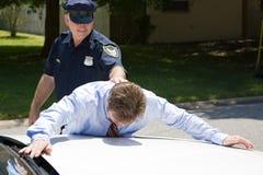 Uomo d'affari nell'ambito dell'arresto Fotografia Stock Libera da Diritti