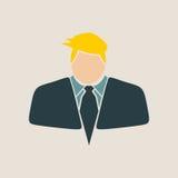 Uomo d'affari nell'icona del vestito illustrazione vettoriale