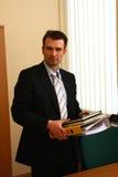 Uomo d'affari nell'ufficio Immagine Stock