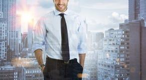 Uomo d'affari nella città Fotografie Stock Libere da Diritti