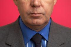 Uomo d'affari nella fine in su fotografia stock libera da diritti