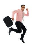 Uomo d'affari nella fretta Fotografie Stock Libere da Diritti