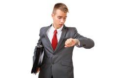 Uomo d'affari nella fretta Fotografia Stock