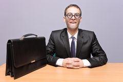 Uomo d'affari Nerdy Fotografie Stock Libere da Diritti
