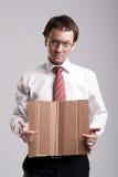 Uomo d'affari Nerdy Fotografia Stock Libera da Diritti