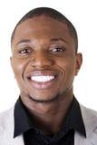 Sorridere nero astuto felice dell'uomo d'affari Fotografia Stock