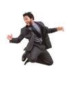 Uomo d'affari nero felice Immagini Stock