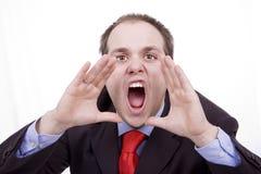 Uomo d'affari nervoso Immagine Stock