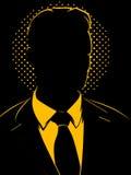 Uomo d'affari oscuro Immagini Stock