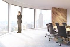 Uomo d'affari panoramico di conferenza di NYC Fotografie Stock
