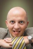 Uomo d'affari pazzesco Fotografia Stock